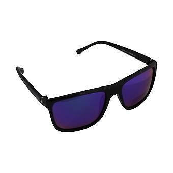 Zonnebril Heren Polaroid Wayfarer - Zwart/Blauw/Paars met gratis brillenkokerS316_1