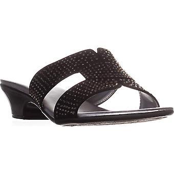 Karen Scott Esmayy Slide-On Sandals, Créé pour Macy-apos;s, Noir, 6,5 M