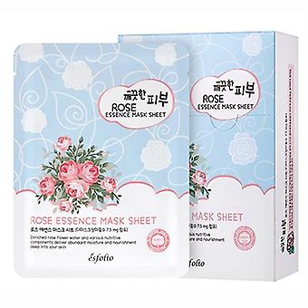 Esfolio Rose Essence Essence Mask 10 Sheets