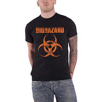 Biohazard T Shirt Band Logo Urban Discipline new Official Mens Black