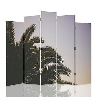 Dekorativa rumsavdelare, 5 paneler, dubbelsidig, canvas, Palma 5