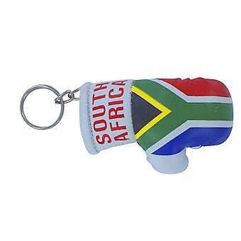 Cle Cles Key Flag Sud Africa Boxing Guanto Bandiera portachiavi