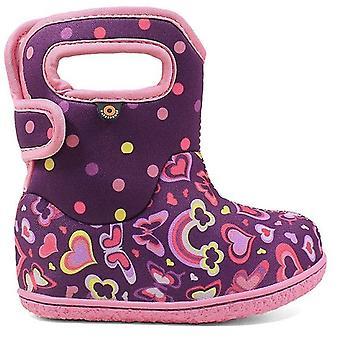 Baby Bogs meisjes regenboog laarzen paars