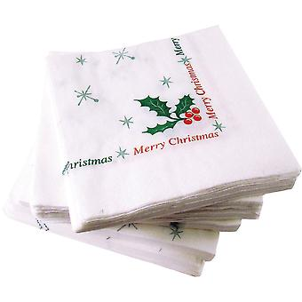 Country Range Holly and Berry Christmas Napkin 33cm 2ply