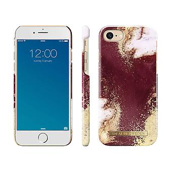 iDeal Ruotsin iPhone 8/7/6/SE (2020) kuori - Golden Viininpunainen Marmori
