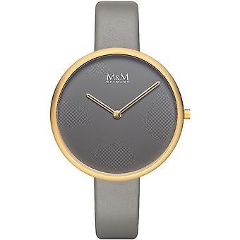 M & M Tyskland M11954-919 platt design damer klocka