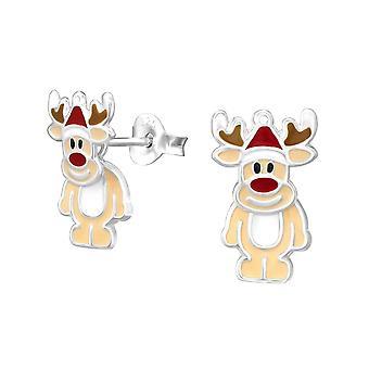 Sterling Silver Reindeer Ear Jacket Earrings
