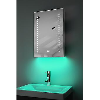 Ambient Audio LED Bathroom Cabinet with Sensor & Shaver k381Waud