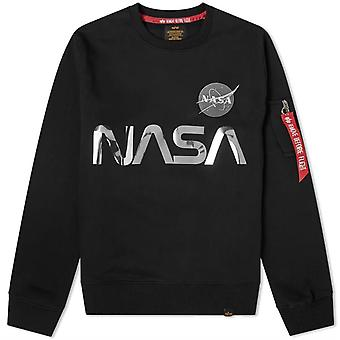 Alpha Industries NASA Reflective Sweatshirt Black 54
