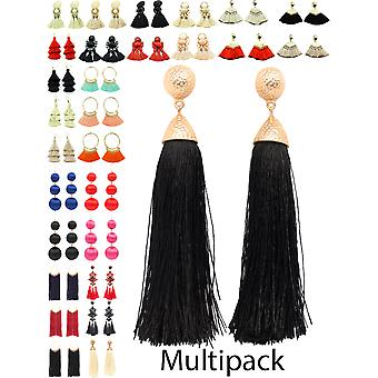 Womens Jewellery Tassle Long Earrings Multi Pack Fashion Accessories New