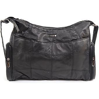 Naiset / naisten Soft Nappa nahka rento käsilaukku / olkapää laukku
