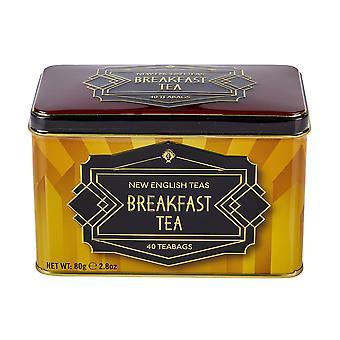 Art-Deco-Teedose mit 40 englischen Frühstücksteebeuteln