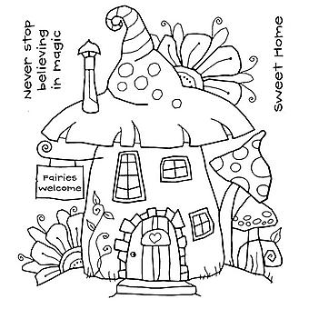 Woodware Clear Magic Singles by Francoise Read - Fairy House Stamp