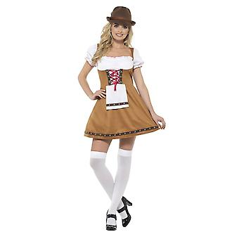 Bayerska öl Maid kostym, Oktoberfest ölfestival fancy dress, UK 8-10
