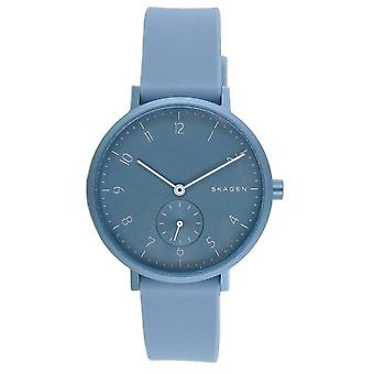 Skagen naisten Watch ranne kello Aaren silikoni sininen SKW2764