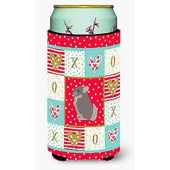 Beige Wellman Chinchilla Love Tall Boy Beverage Insulator Hugger