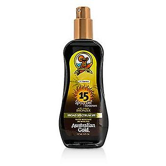 Australian Gold Spray Gel Sunscreen Broad Spectrum Spf 15 With Instant Bronzer - 237ml/8oz