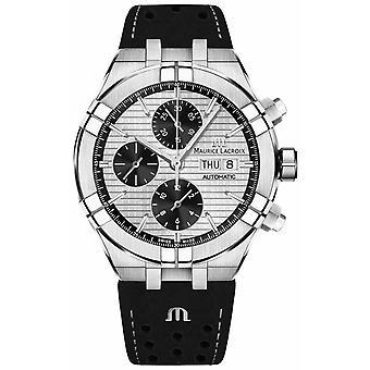 Maurice Lacroix Aikon Automatic Chronograph Black Panda Dial Black Strap AI6038-SS001-132-1 Watch