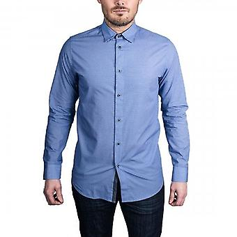 Тед Бейкер Femme LS Geo Печатные SS рубашка синий