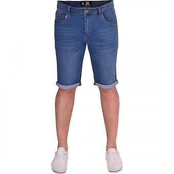 52_DNM Mens Skinny Stretch Denim Shorts Rolls Turn Up Summer Jean Short