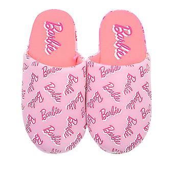 Barbie Her Şeyden Baskı Logo Pembe Polyester Bayan Terlik