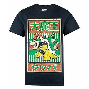 Super Mario T Shirt Pour Hommes | Bowser Character Japanese Poster Adults Top | Vêtements de marchandises de jeu