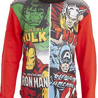 Avengers Çocuk / Çocuk Komik Panel Uzun Pijama