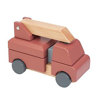 Sebra - stacking toy - wooden fire truck