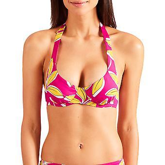 Aubade PV15 Frauen's Danse De Feuilles Floral gepolstert unterverdrahtet Semi-Full Cup Bikini Top