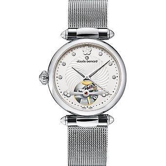 Claude Bernard Wristwatch Women's Classic Automatic Open Heart 85022 3M APN