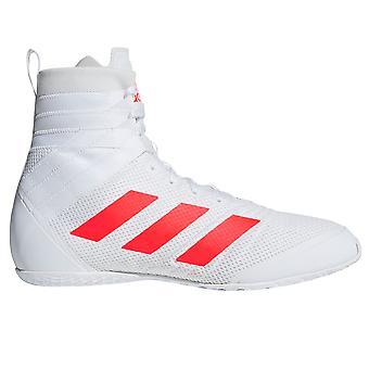 Adidas Speedex 18 Mens adultes Boxing Trainer chaussure botte blanc/rouge