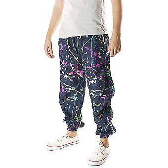Funny Guy Mugs Neon Paint Splatter Windbreaker Pants, 2X-Large