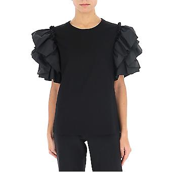Alexander Mcqueen 607220qlaaa1000 Women's Black Cotton T-shirt