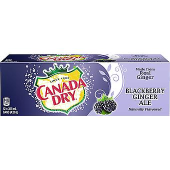 Canada Dry Blackberry Gingerale-( 355 Ml X 12 Cans )