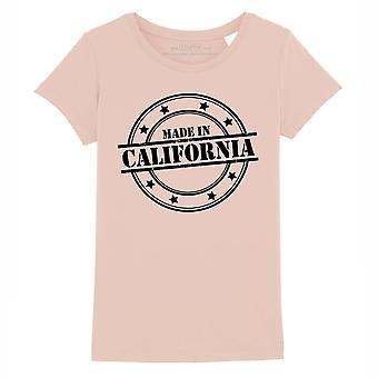 STUFF4 Girl's Round Neck T-Shirt/Made In California/Coral Pink