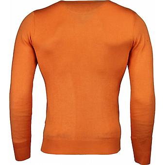 Casual sweater-Exclusive blank V-neck-orange
