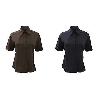 Bargear® Ladies Short Sleeve Bar Shirt / Ladies Bar Wear (Pack of 2)