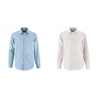 SOLS Mens Brody Herringbone Long Sleeve Shirt