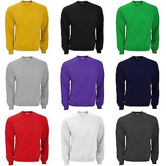 B & C Mens Crew Neck Sweatshirt Top