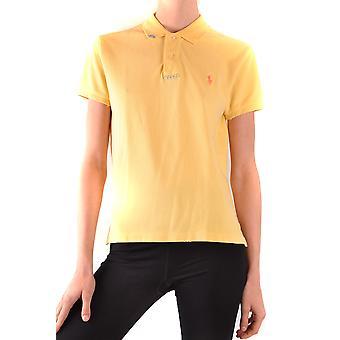 Ralph Lauren Ezbc037207 Kvinder's Gul BomuldPolo Shirt