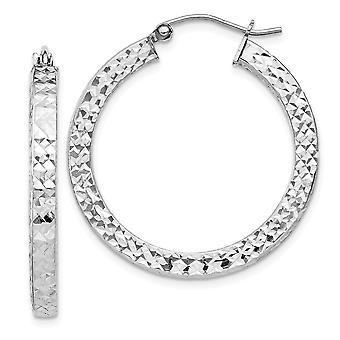 925 plata esterlina con bisagras post Sparkle corte 3x30mm cuadrado tubo aros pendientes de joyería regalos para las mujeres