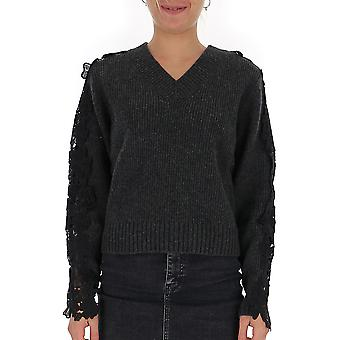 See By Chloé Chs19wmp19520075 Women's Black Wool Sweater