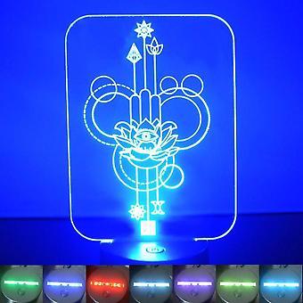 Lotus blomst dekorative rektangel farge skiftende LED akryl lys