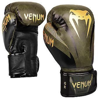 Venum Impact Boxing Gloves Khaki/Gold