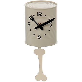 Wellindal White kitchen clock pendulum can with bone (Decoration , Clocks)
