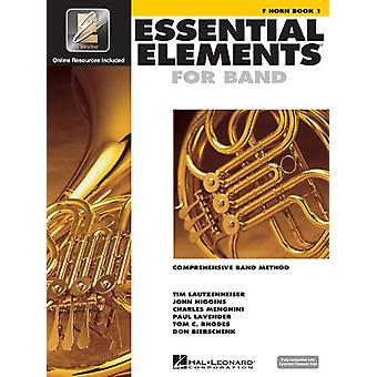 Essential Elements for Band - F Horn Book 1 with Eei by Hal Leonard C