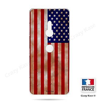 Runko Sony Xperia Xz3 Joustava Yhdysvaltain lippu pattern