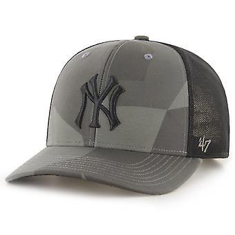 47 Brand Mesh Snapback Cap - COUNTER New York Yankees camo