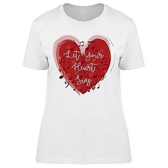 Let Your Heart Sing A Cool Music Tee Women's -Bild av Shutterstock Women's T-shirt