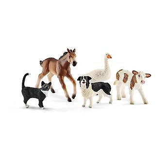Schleich valikoitu maatilan maailma eläimet (42386)